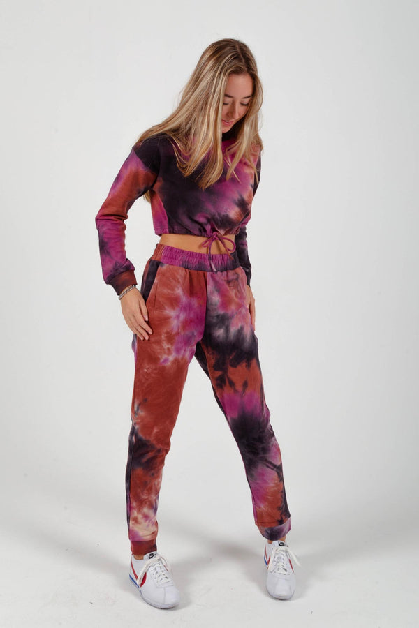 Purple Cloud Tie-Dye Set
