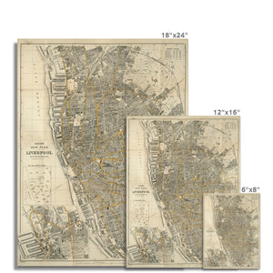 Bacon's New Plan of Liverpool, 1910 Fine Art Print