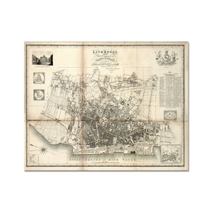 Liverpool and its Environs, by William Swire, 1824 Hahnemühle Photo Rag Print