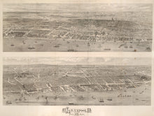 Load image into Gallery viewer, Full image of the 1865 View of Liverpool from the Mersey (map print)