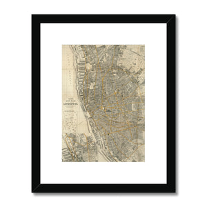 Bacon's New Plan of Liverpool, 1910 Framed & Mounted Print