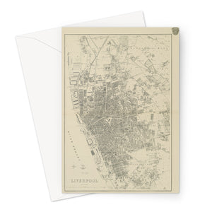 Weekly Dispatch Atlas, 1860 Greeting Card