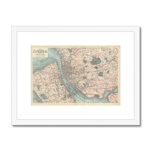 Bacon's Map of Liverpool, 1885 Framed & Mounted Print