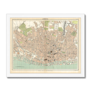 Royal Atlas Plan of Liverpool, 1898 Framed Print