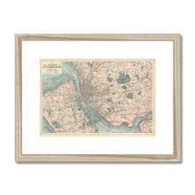 Load image into Gallery viewer, Bacon's Map of Liverpool, 1885 Framed & Mounted Print