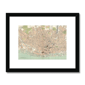Royal Atlas Plan of Liverpool, 1898 Framed & Mounted Print