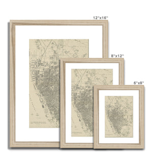 Weekly Dispatch Atlas, 1860 Framed & Mounted Print