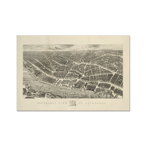Ackermann's Panoramic View of Liverpool, 1847 Hahnemühle Photo Rag Print