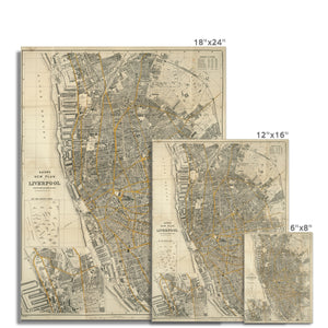 Bacon's New Plan of Liverpool, 1910 Hahnemühle Photo Rag Print