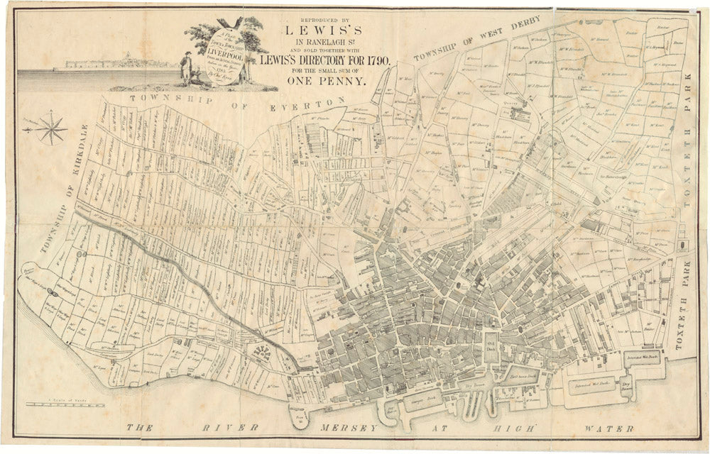 Charles Eyes' Plan of the Town and Township of Liverpool, 1785 Poster