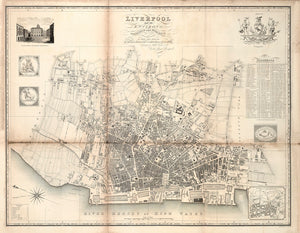 Liverpool and its Environs, by William Swire, 1824 Modern Print