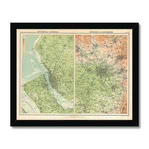 Environs of Liverpool, 1898 Framed Print