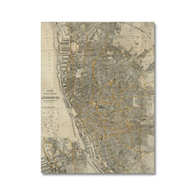 Load image into Gallery viewer, Bacon's New Plan of Liverpool, 1910 Canvas