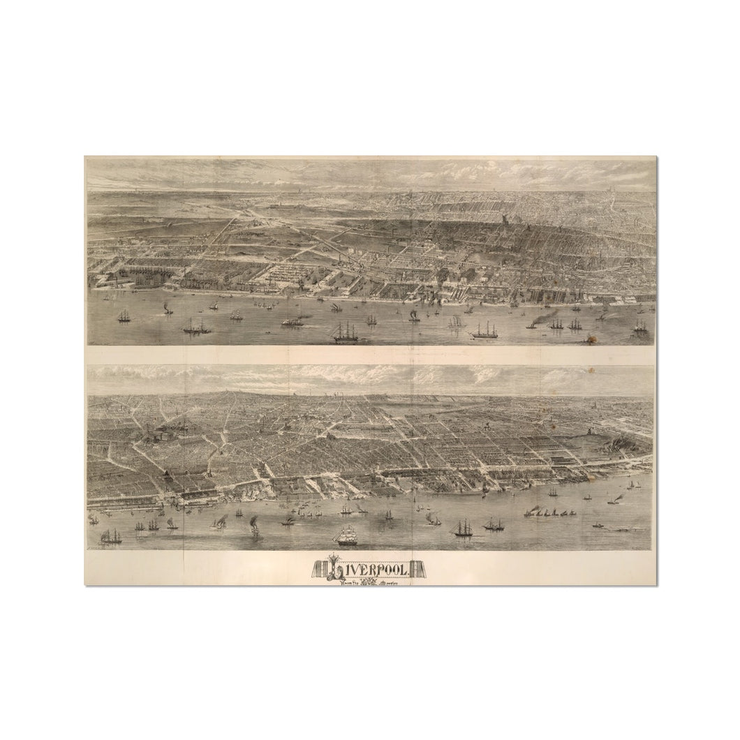 Liverpool from the Mersey, 1865 Hahnemühle Photo Rag Print