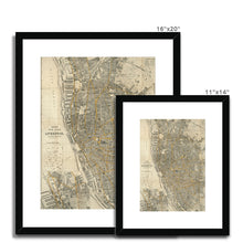Load image into Gallery viewer, Bacon's New Plan of Liverpool, 1910 Framed & Mounted Print