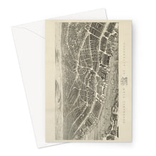 Load image into Gallery viewer, Ackermann's Panoramic View of Liverpool, 1847 Greeting Card