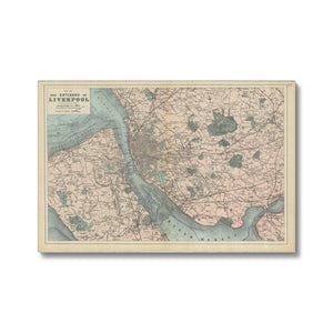 Bacon's Map of Liverpool, 1885 Canvas