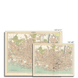 Royal Atlas Plan of Liverpool, 1898 Fine Art Print