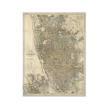 Load image into Gallery viewer, Bacon's New Plan of Liverpool, 1910 Fine Art Print