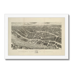 Ackermann's Panoramic View of Liverpool, 1847 Framed Print