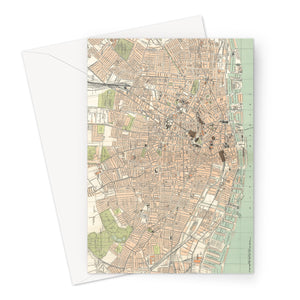 Royal Atlas Plan of Liverpool, 1898 Greeting Card