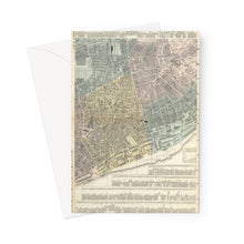 Load image into Gallery viewer, Plan of Liverpool (South Sheet), 1890 Greeting Card