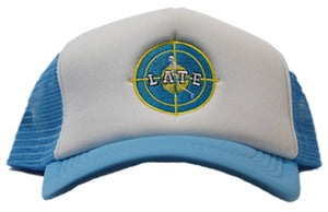 "Blue ""Late"" Trucker Hat"