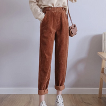 Load image into Gallery viewer, Women Harem Pants Autumn Winter Corduroy Pants