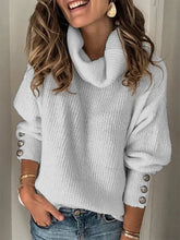 Load image into Gallery viewer, Plus Size Lady Solid Plain Casual Sweater