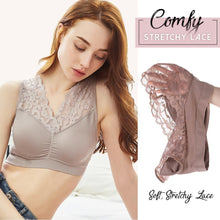 Load image into Gallery viewer, LaxChic™ Lace Support Bra - LimeTrifle