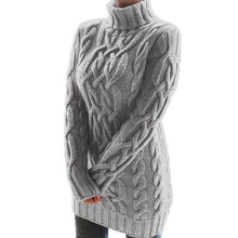 Load image into Gallery viewer, Autumn Winter Lapel Sweater Dress