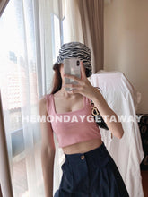 Load image into Gallery viewer, Square Neck Cropped Tank (Dusty Pink) - themondaygetaway.