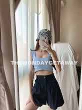 Load image into Gallery viewer, Square Neck Cropped Tank (Baby Blue) - themondaygetaway.