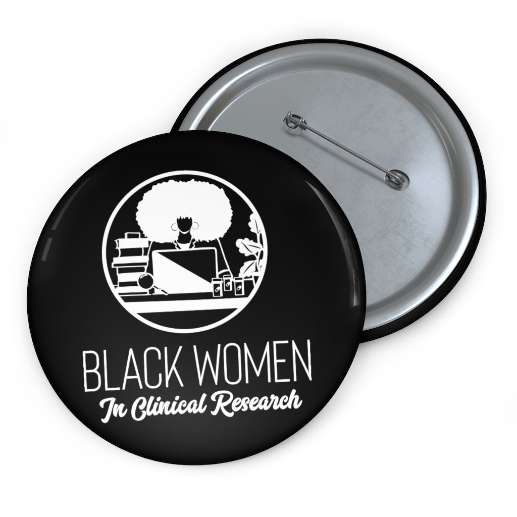 Black Custom Pin Buttons