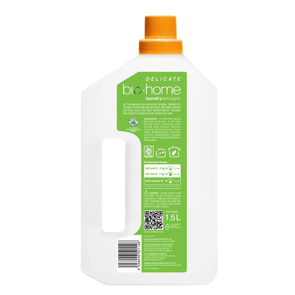 bio-home Liquid Laundry Detergent (Delicate) -  Hyacinth and Nectarine 1.5Ltr