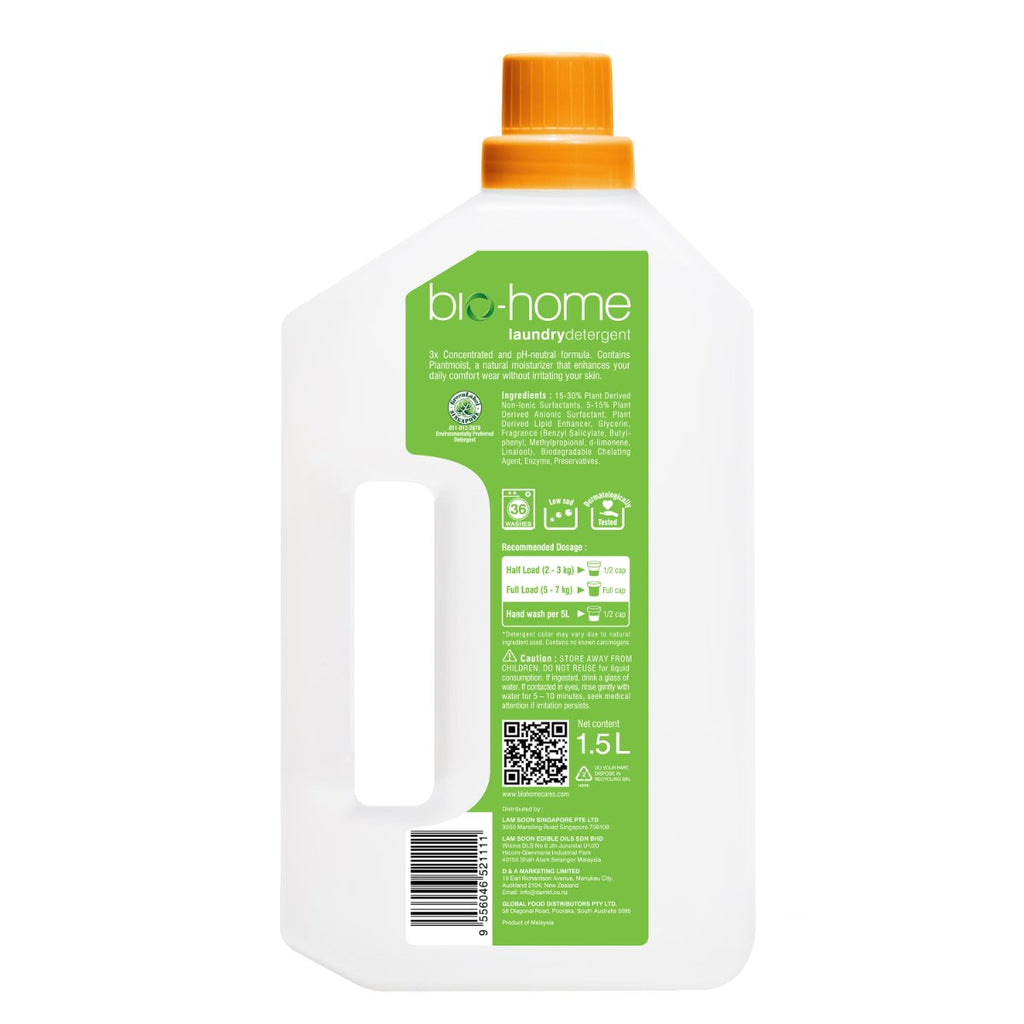 bio-home Liquid Laundry Detergent - Hyacinth and Nectarine 1.5Ltr