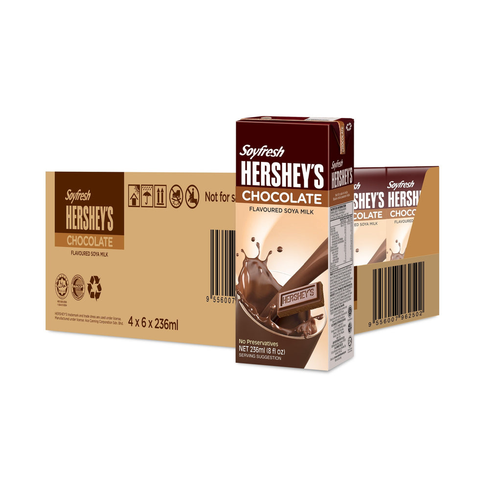 Hershey's Soyfresh Soya Milk - Chocolate 236ml x 24 packs