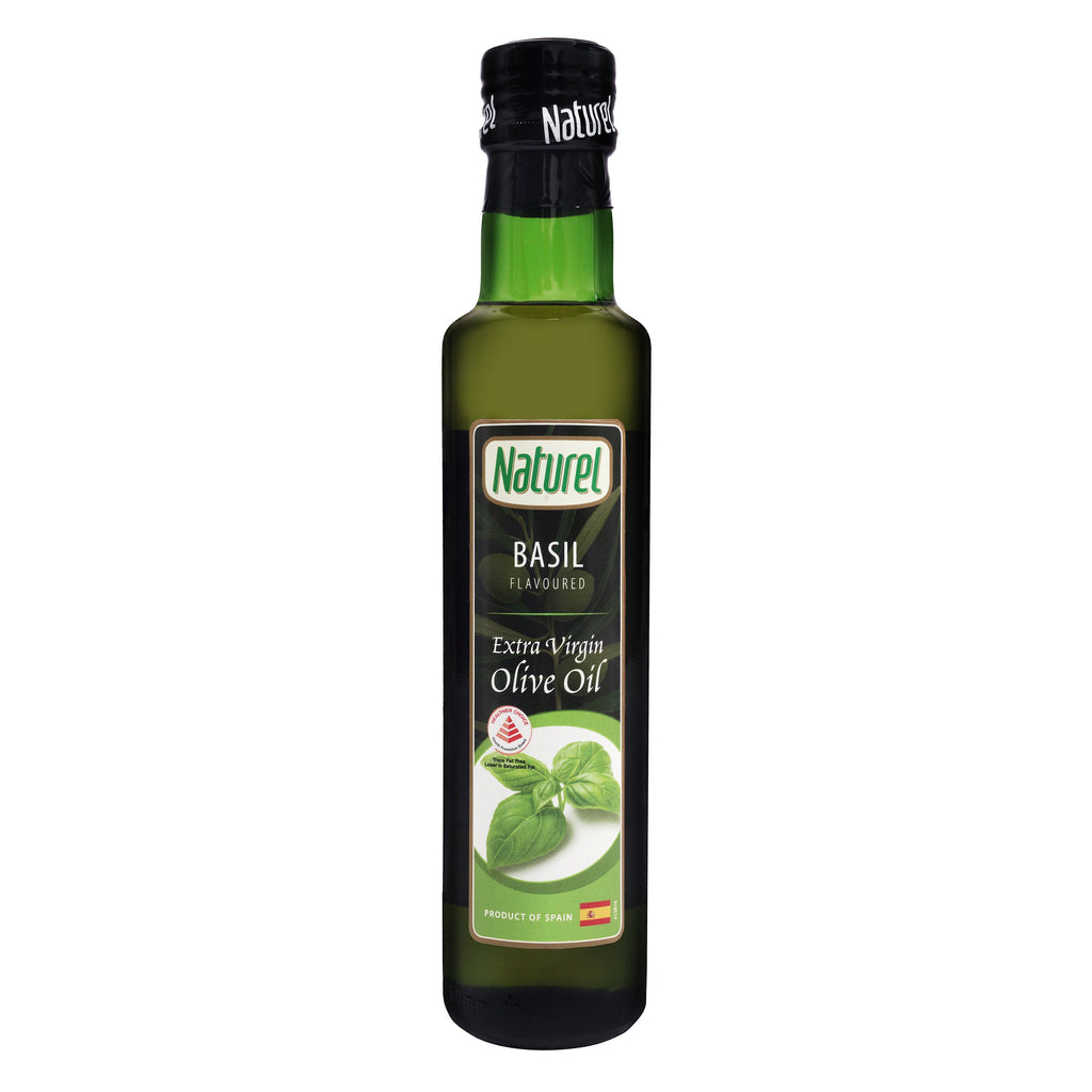 Naturel Extra Virgin Olive Oil - Basil Flavoured 250ml