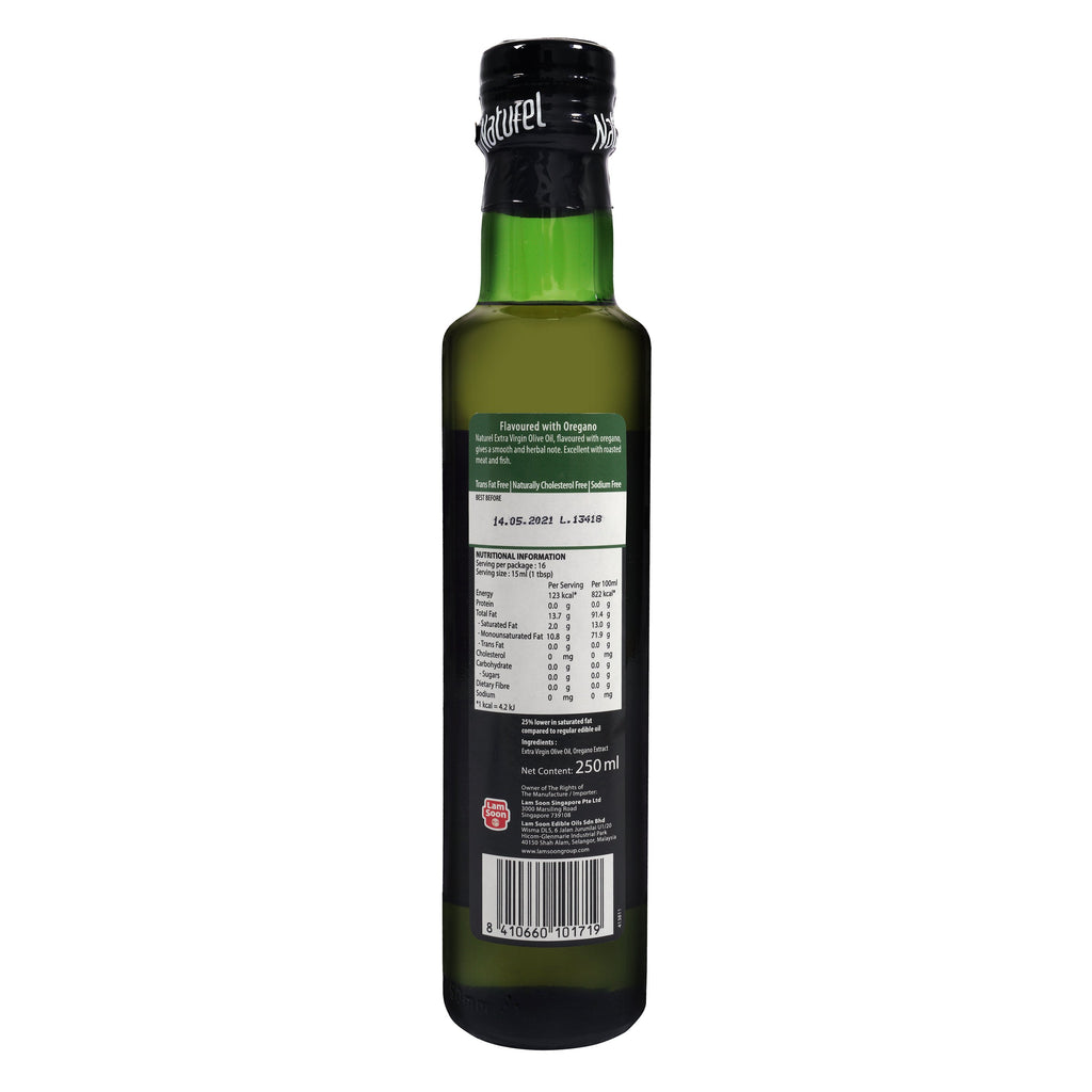 Naturel Extra Virgin Olive Oil - Oregano Flavoured 250ml