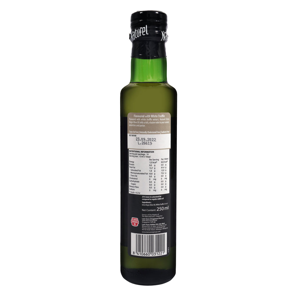Naturel Extra Virgin Olive Oil - White Truffle Flavoured 250ml