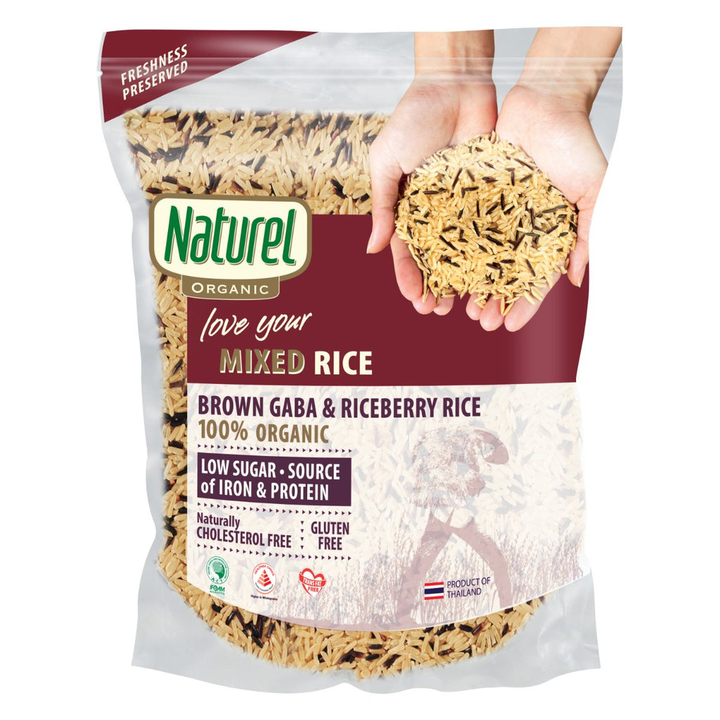 Naturel Organic Brown GABA and Riceberry Rice 1.8kg