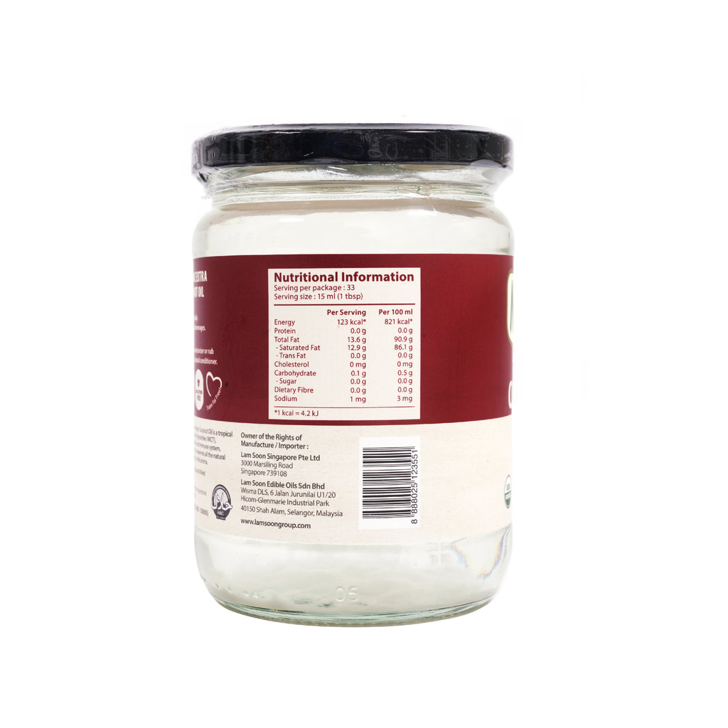 Naturel Organic Extra Virgin Coconut Oil 500ml