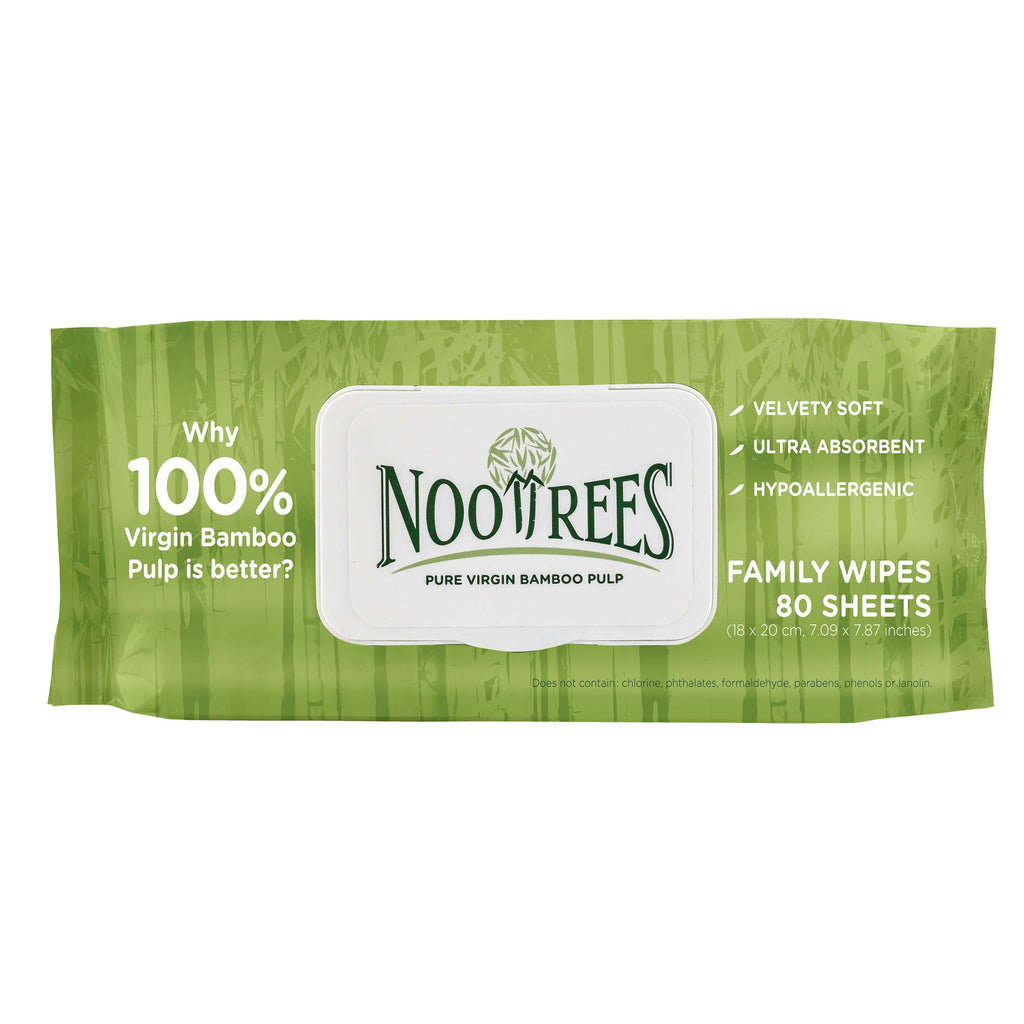 NooTrees Wet Wipes (Family Wipes) 80 sheets