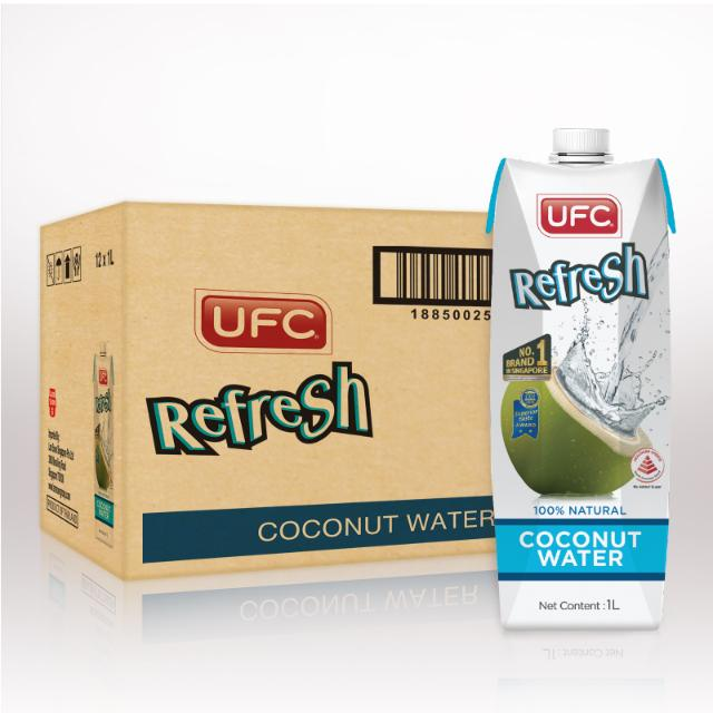 UFC Refresh Coconut Water (Carton 1L) 1Ltr x 12 Packs