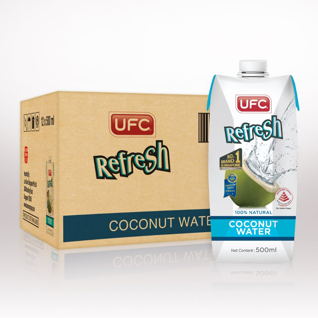 UFC Refresh Coconut Water (Carton 500ml) 500ml x 12 Packs