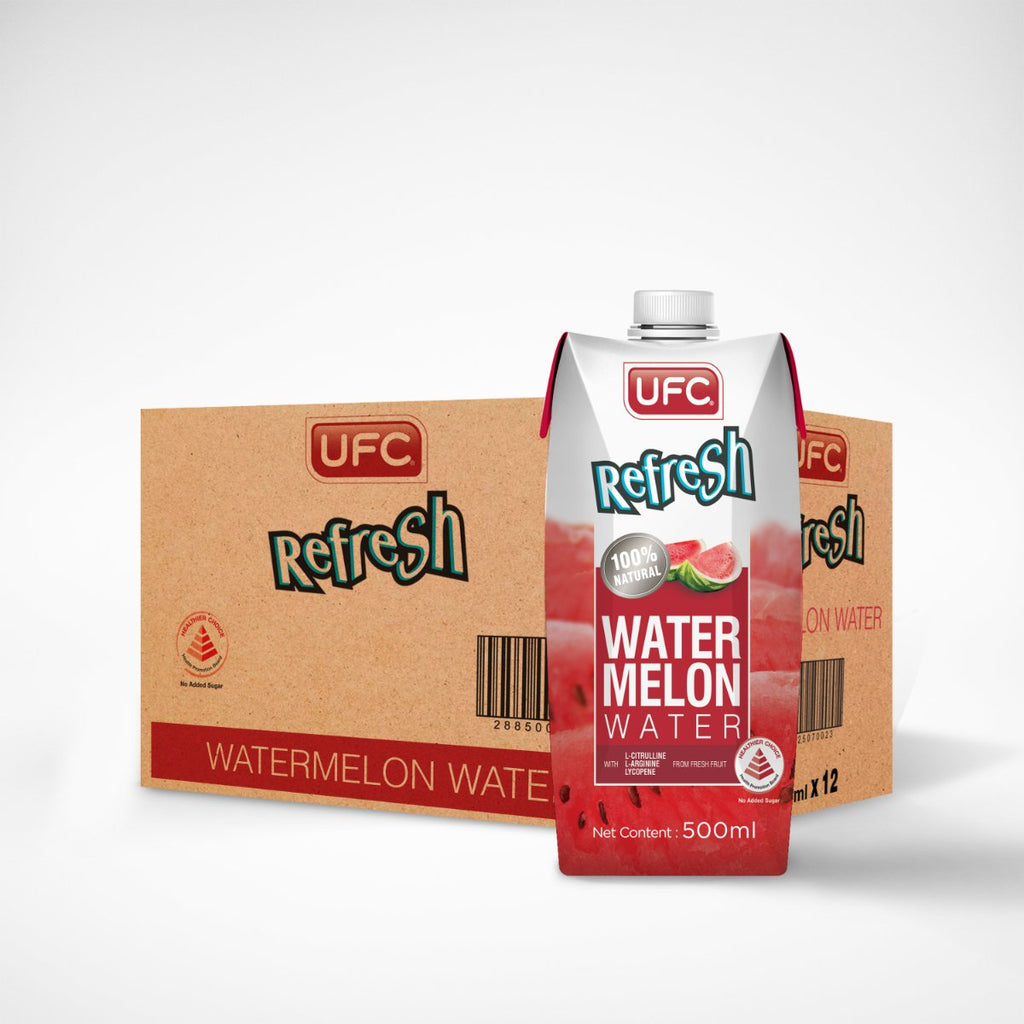 UFC Refresh Watermelon Water (Carton 500ml) 500ml x 12 Packs
