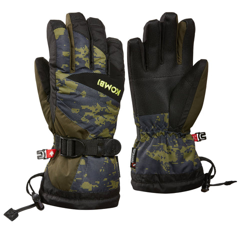 Kombi - The Original Jr Glove in Olive Pixels
