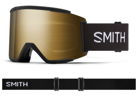 Smith - Squad XL Goggles in Chromapop Sun Black Gold Mirror Black