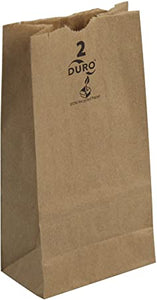 Paper Bag, Brown, 2# - 500/BNDL (18402)