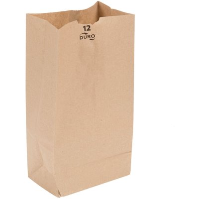 Paper Bag, Brown, 12# - 500/BNDL (18412)